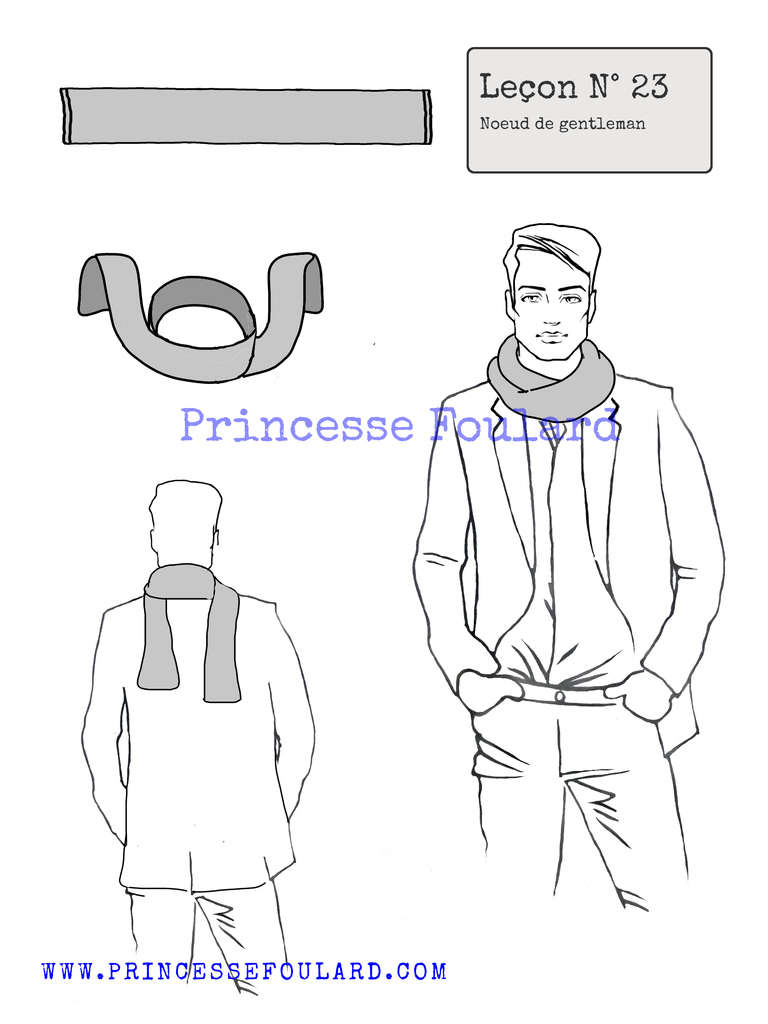 Conseils pour nouer son foulard d'homme pour un vrai look de gentleman - https://www.princessefoulard.com/