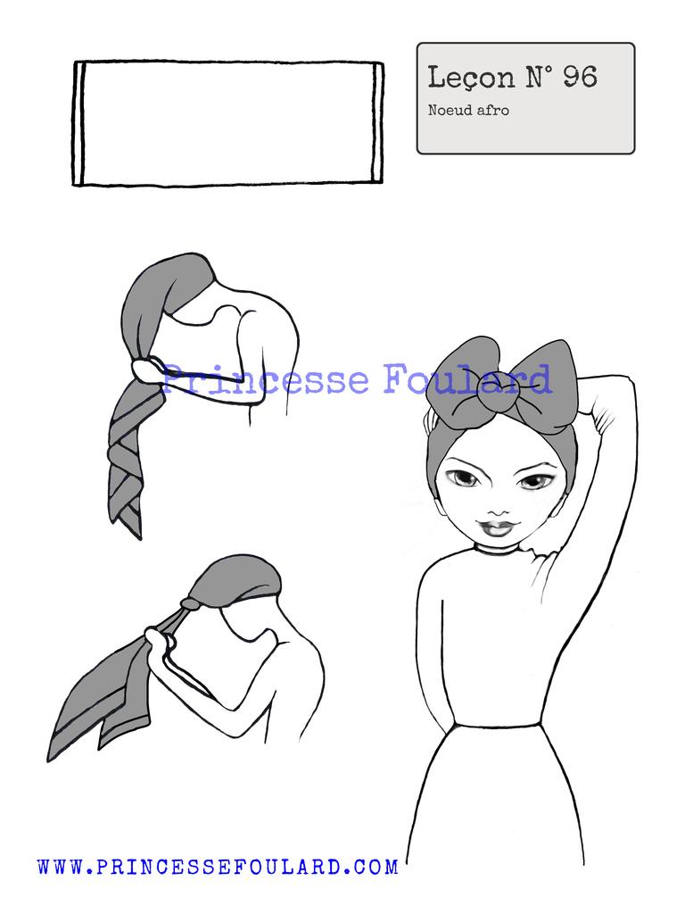 Nouer son foulard avec une coupe de cheveux Afro