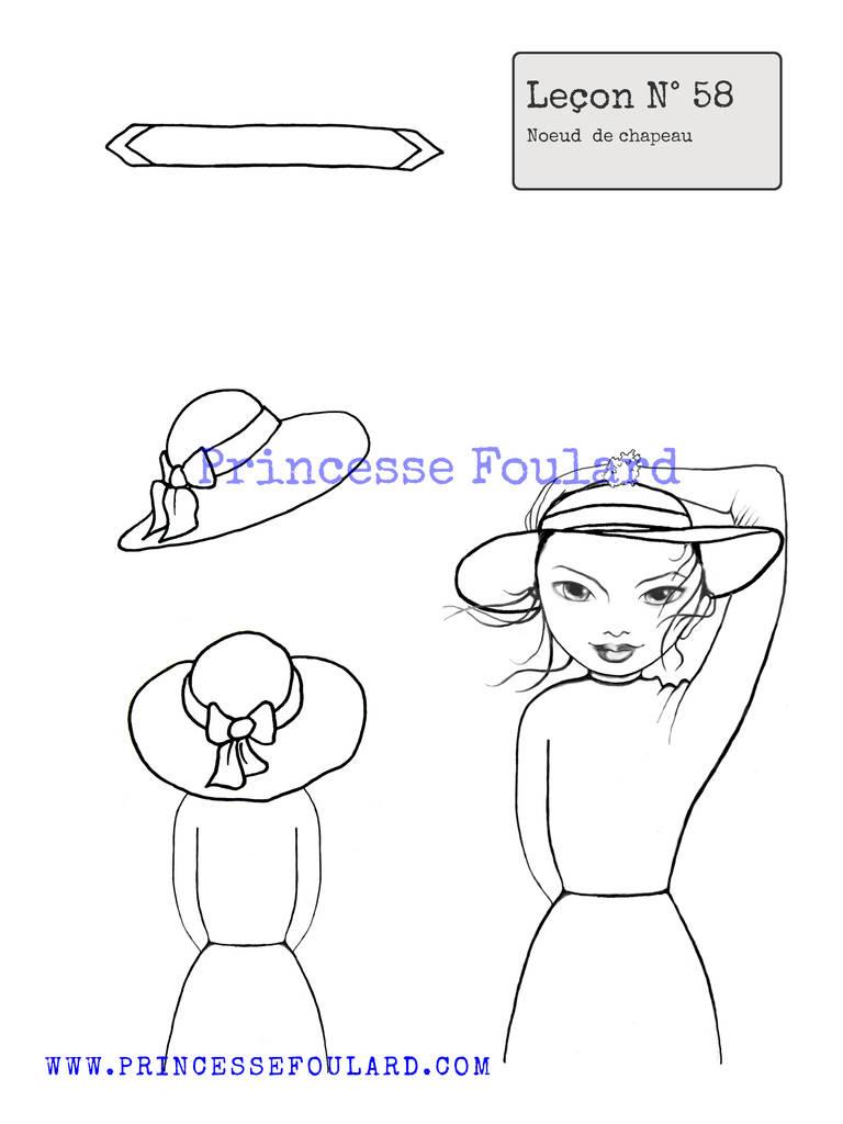 nouer un foulard sur un chapeau