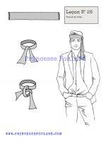 Leçon numéro 26 : Nœud de foulard de tête pour homme