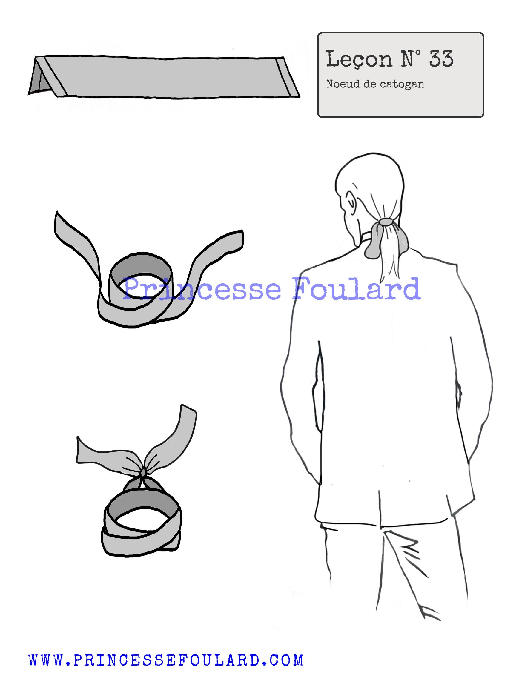 Nouer son foulard en catogan