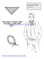 Leçon numéro 35 : Nœud de foulard d'été pour homme