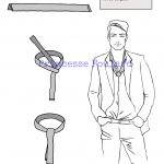 Foulard élégant classe, habillé pour homme