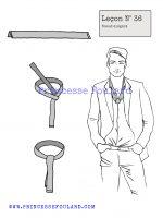 Leçon numéro 36 : Nœud de foulard élégant pour homme