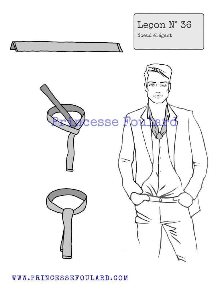 Nœud de foulard pour homme élégant