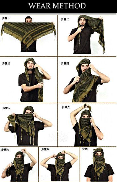 comment mettre foulard ch u00e8che militaire ou berb u00e8re