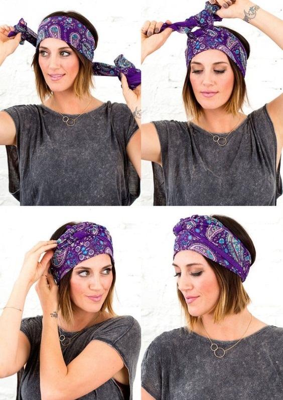 mettre un foulard femme
