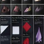 Comment plier un foulard en pochette pour poche de costume ?