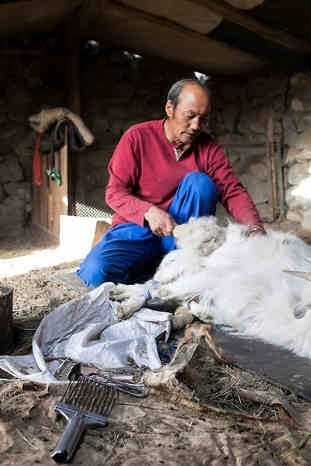 Artisan de Grosse écharpe laine