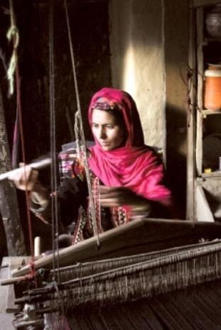 Artisan de laine d'Himalaya